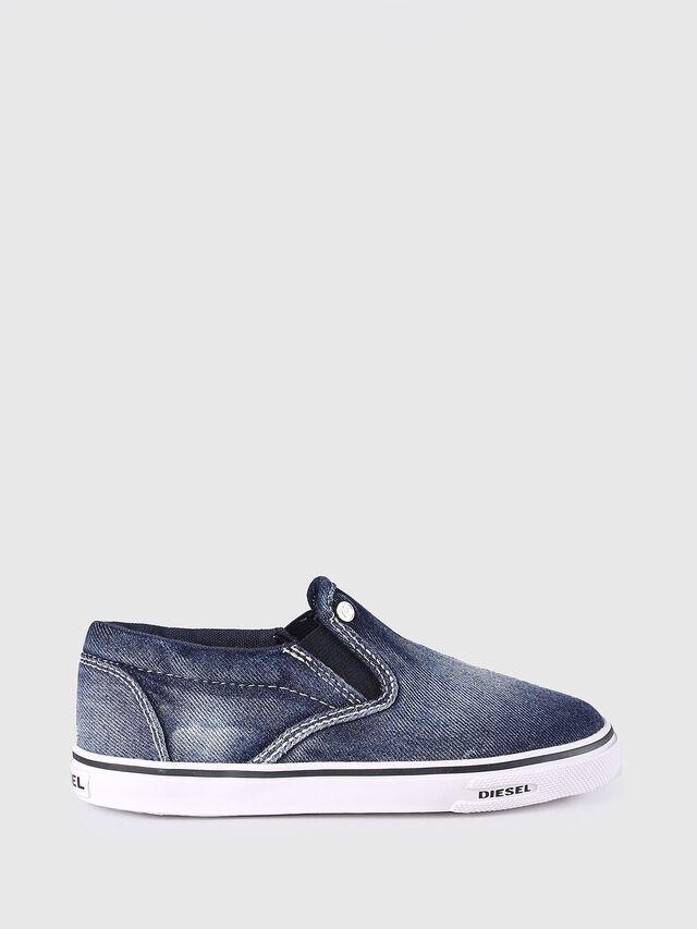 Diesel - SLIP ON 21 DENIM CH, Blu Jeans - Scarpe - Image 1