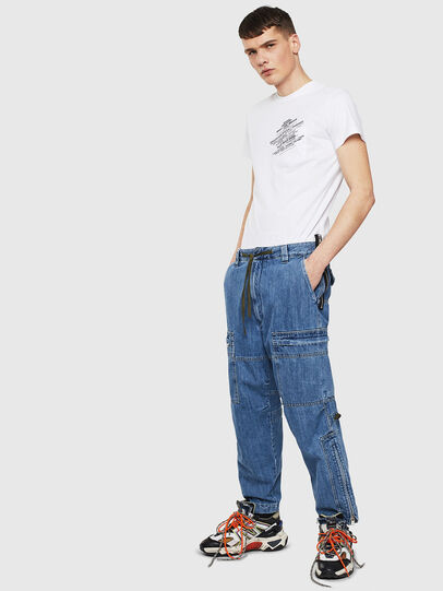 Diesel - T-WORKY-S1, Bianco - T-Shirts - Image 4