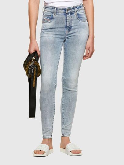 Diesel - Slandy High 009TG, Blu Chiaro - Jeans - Image 1
