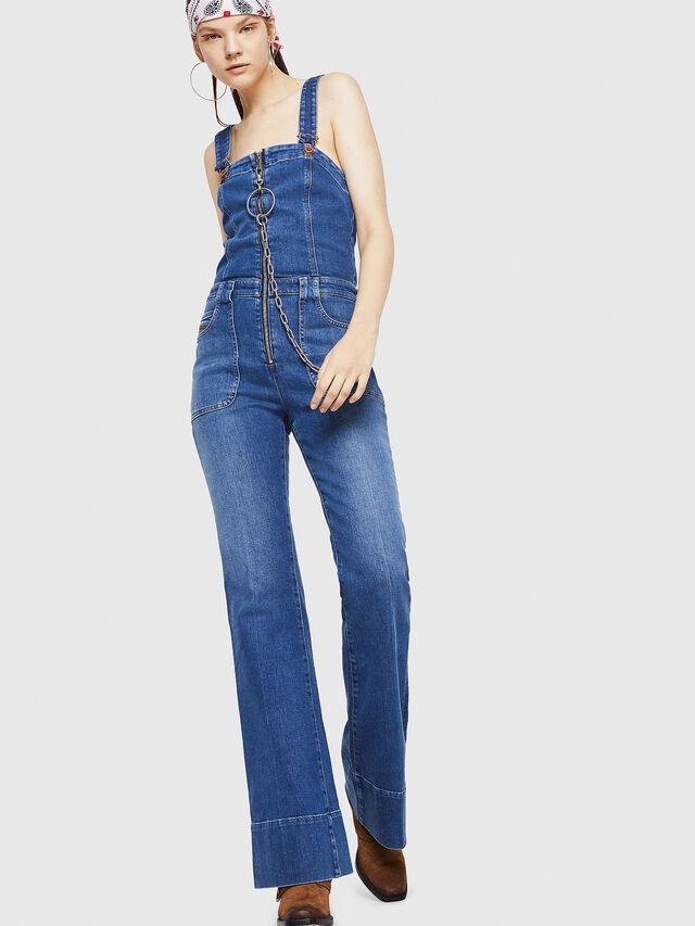Diesel - DE-THINK, Blu Jeans - Tute e Salopette - Image 1