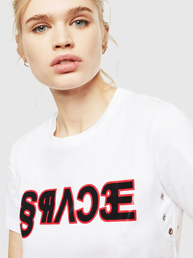 Diesel - T-SILY-WO, Bianco - T-Shirts - Image 3