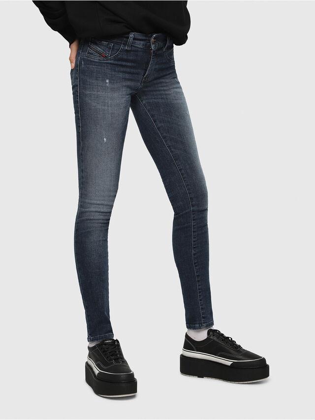Diesel - Livier 0687L, Blu Scuro - Jeans - Image 1