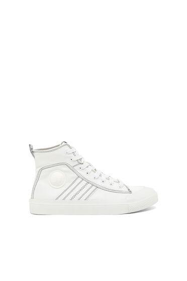 Sneaker a media altezza in tela bicolore