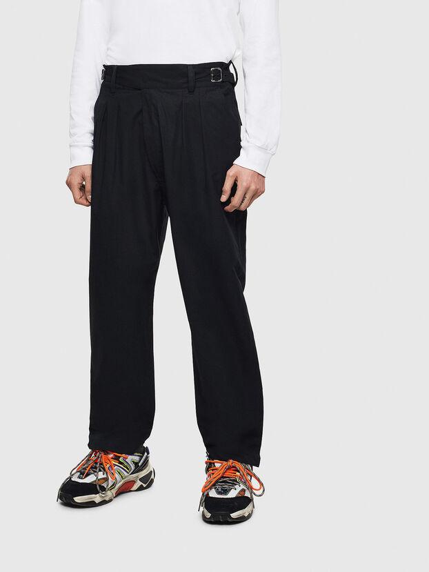 P-COOLE, Nero - Pantaloni