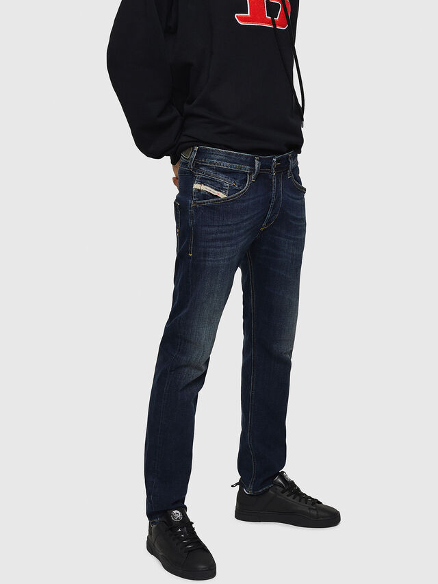 Diesel Belther 0814W, Blu Scuro - Jeans - Image 3