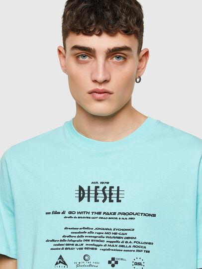 Diesel - T-JUST-E9, Blu Chiaro - T-Shirts - Image 3