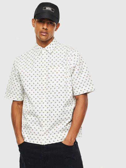 Diesel - S-ATWOOD-B, Bianco - Camicie - Image 1