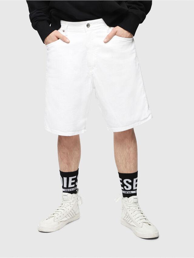 Diesel - D-WILLOH, Bianco - Shorts - Image 1