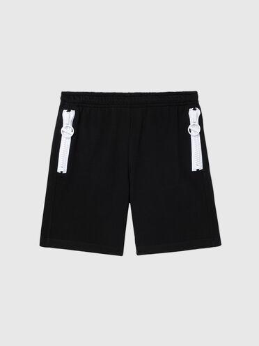 Shorts felpati con dettaglio a contrasto