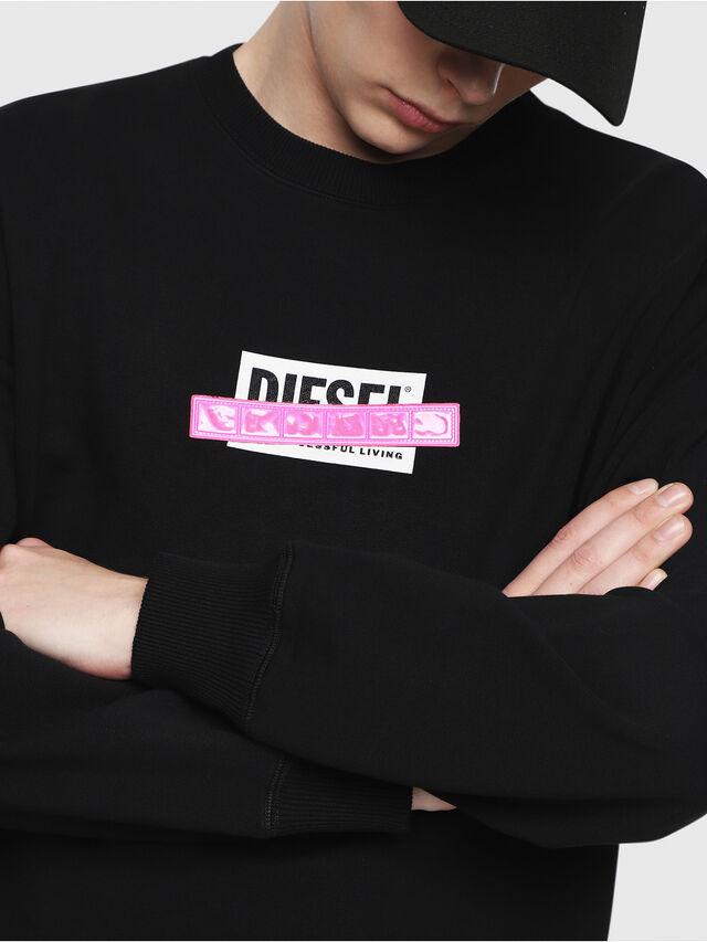 Diesel - S-GIR-DIE, Nero - Felpe - Image 3