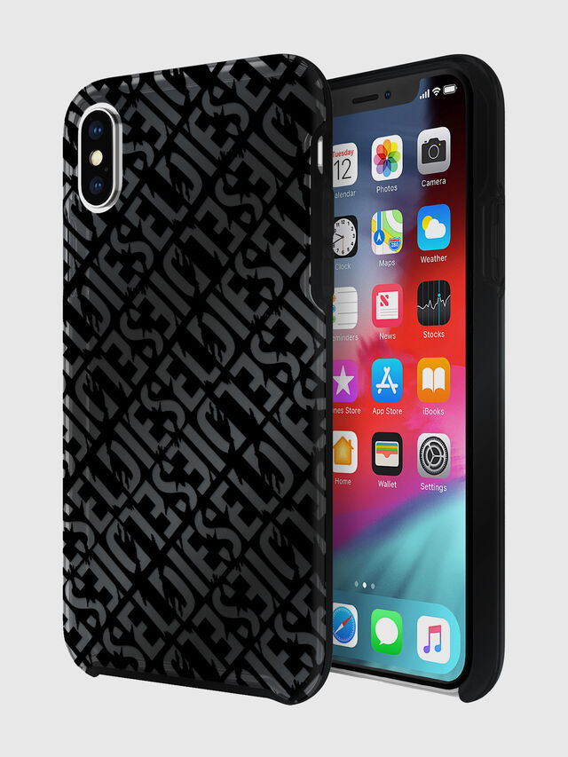 Diesel - DIESEL PRINTED CO-MOLD CASE FOR IPHONE XS & IPHONE X, Nero - Cover - Image 1