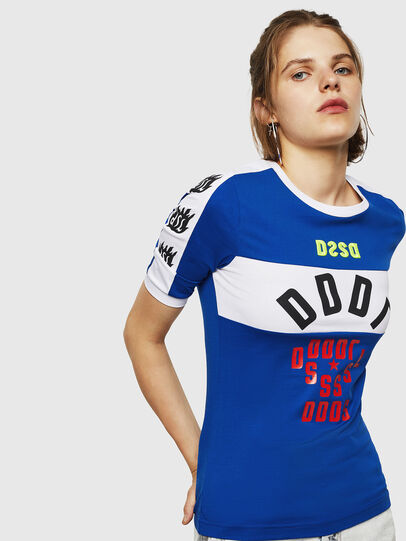 Diesel - T-HEIA-B, Blu Brillante - T-Shirts - Image 1