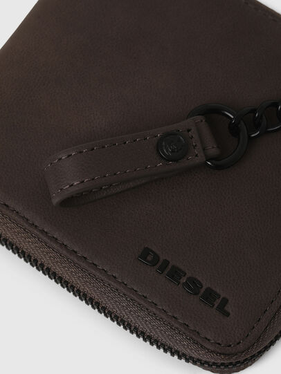 Diesel - ZIPPY HIRESH S WITH, Grigio scuro - Portafogli Con Zip - Image 5