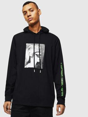 T-JUST-LS-HOOD-J5, Nero - T-Shirts