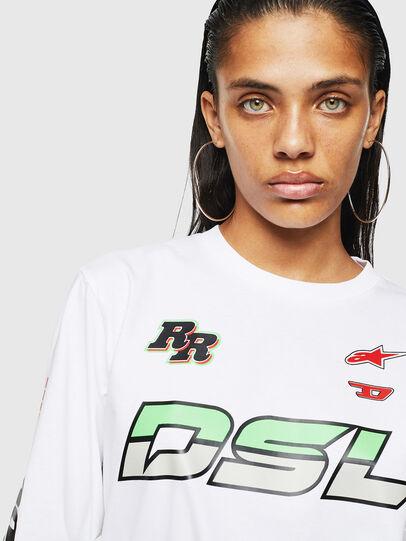 Diesel - ASTARS-T-JUST-LONG-F, Bianco - T-Shirts - Image 3