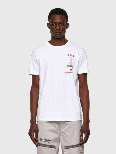 Diesel - T-DIEGOS-B4, Bianco - T-Shirts - Image 1