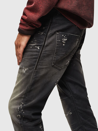 Diesel - Krooley JoggJeans 084AE, Nero/Grigio scuro - Jeans - Image 4