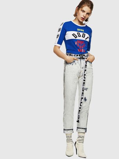 Diesel - T-HEIA-B, Blu Brillante - T-Shirts - Image 5