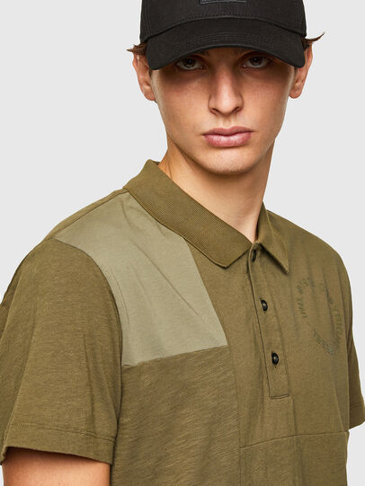 Diesel - T-POLWORK, Verde Militare - Polo - Image 3