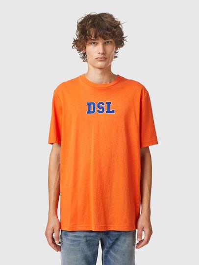Diesel - T-JUST-B85, Arancione - T-Shirts - Image 1