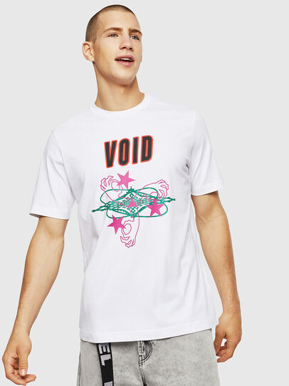 Diesel - T-JUST-A2, Bianco - T-Shirts - Image 1