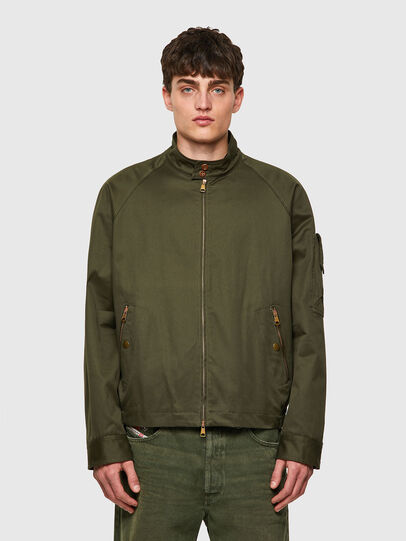 Diesel - J-HARRY, Verde Scuro - Giacche - Image 1