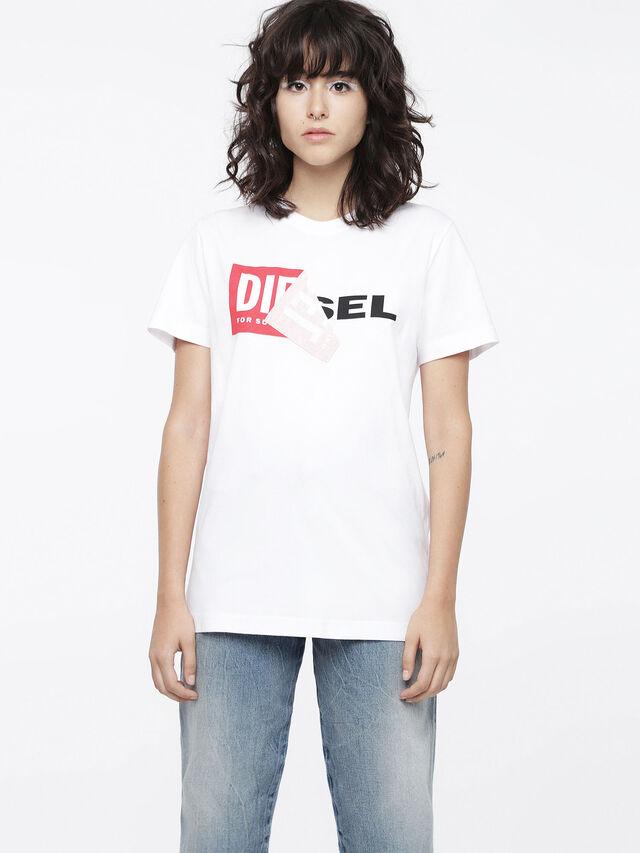 Diesel - T-DIEGO-QA-FL, Bianco - T-Shirts - Image 1