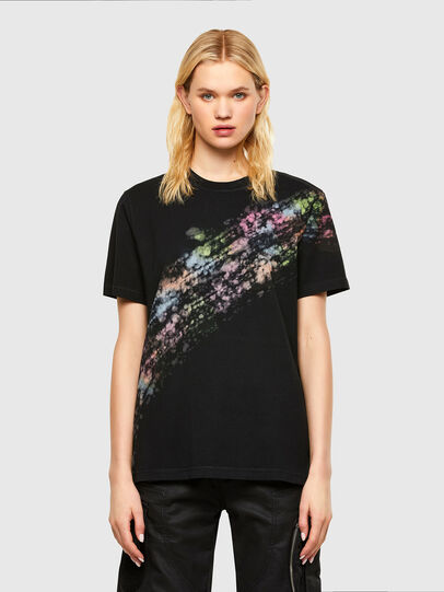 Diesel - T-JUST-A40, Nero - T-Shirts - Image 1
