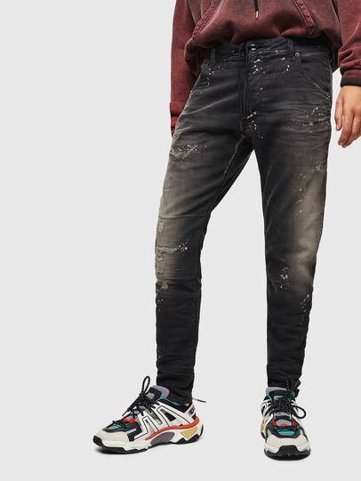 Diesel - Krooley JoggJeans 084AE, Nero/Grigio scuro - Jeans - Image 1