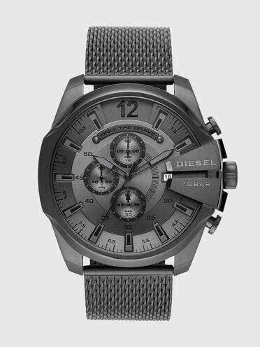 Cronografo Mega Chief in acciaio inossidabile grigio canna di fucile