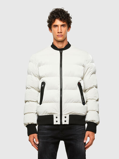 Diesel - W-ON-A, Bianco - Giacche invernali - Image 1