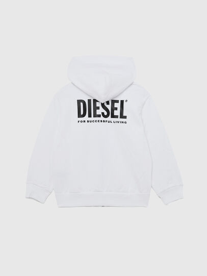 Diesel - SGIRKHOODZIP-LOGO OV, Bianco - Felpe - Image 2