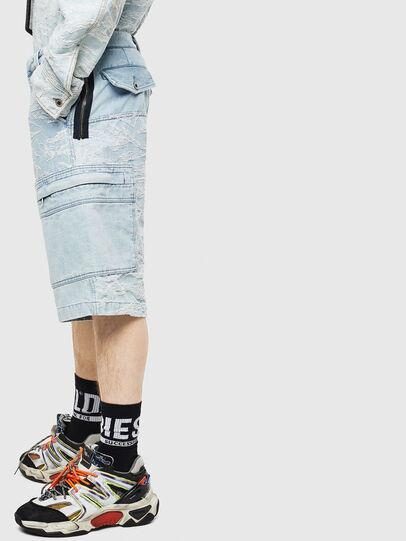 Diesel - D-LUK-SHORT, Blu Chiaro - Shorts - Image 3