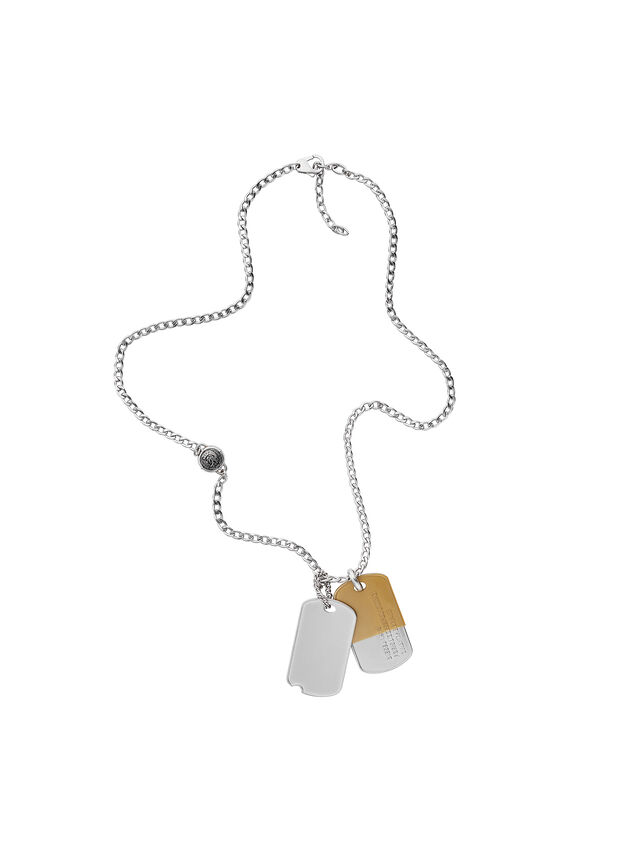 Diesel - NECKLACE DX1055, Argento - Collane - Image 1