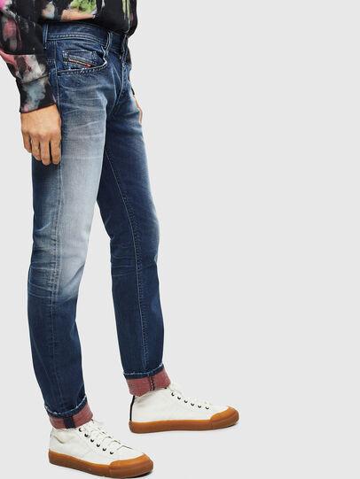 Diesel - Thommer 009BQ, Blu Scuro - Jeans - Image 5