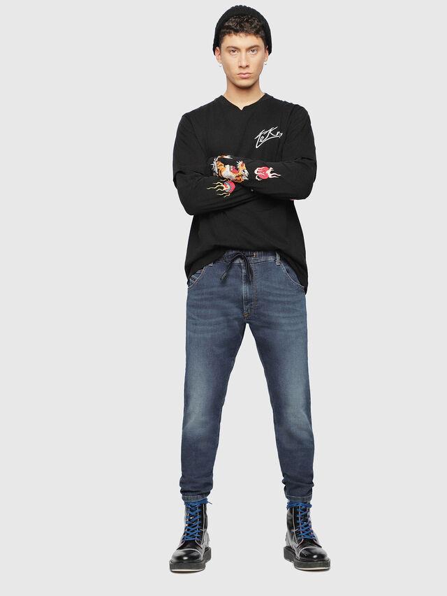 Diesel - Krooley JoggJeans 084UB, Blu Scuro - Jeans - Image 6