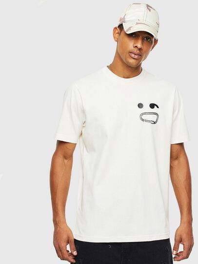 Diesel - T-JUST-T14, Bianco - T-Shirts - Image 1