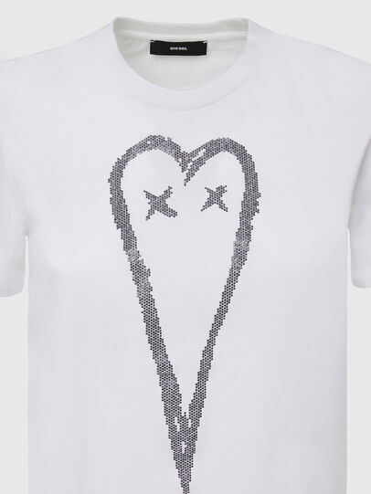 Diesel - T-SILY-E53, Bianco - T-Shirts - Image 3