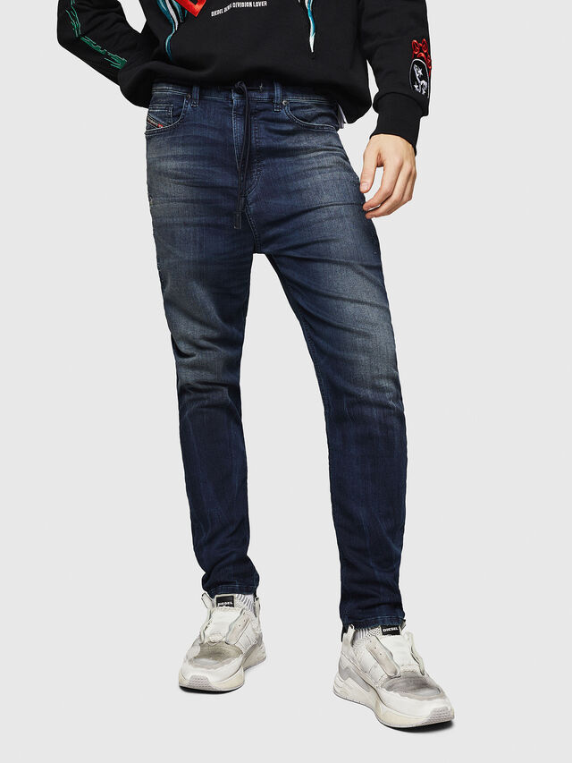 Diesel - D-Vider JoggJeans 069HV, Blu medio - Jeans - Image 1