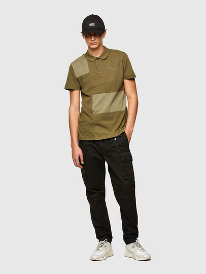 Diesel - T-POLWORK, Verde Militare - Polo - Image 4