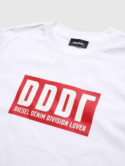 Diesel - TJUSTA9, Bianco - T-shirts e Tops - Image 3