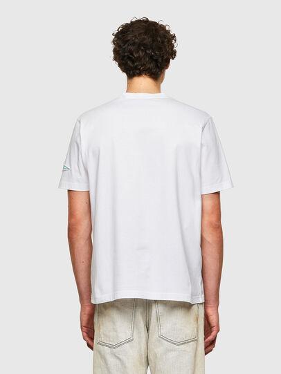 Diesel - T-JUST-B61, Bianco - T-Shirts - Image 3