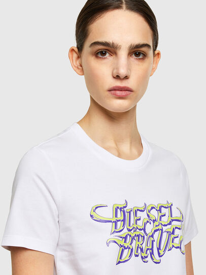Diesel - T-SILY-K8, Bianco - T-Shirts - Image 3