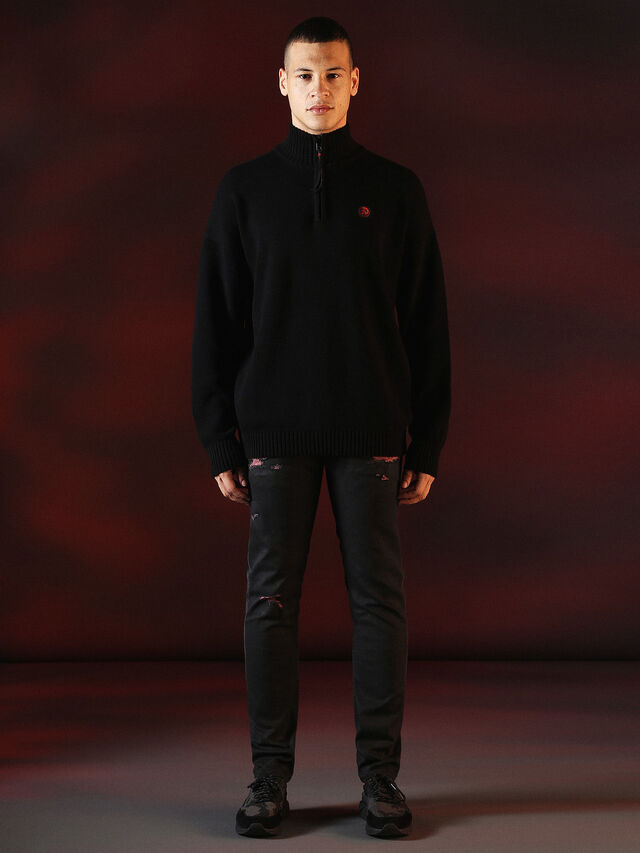 Diesel - DVL-KNIT-SPECIAL COLLECTION, Nero - Maglieria - Image 3
