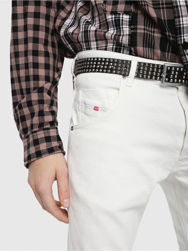 Diesel - Krooley JoggJeans 088AZ, Bianco - Jeans - Image 3
