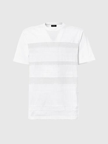 T-shirt con inserti verticali