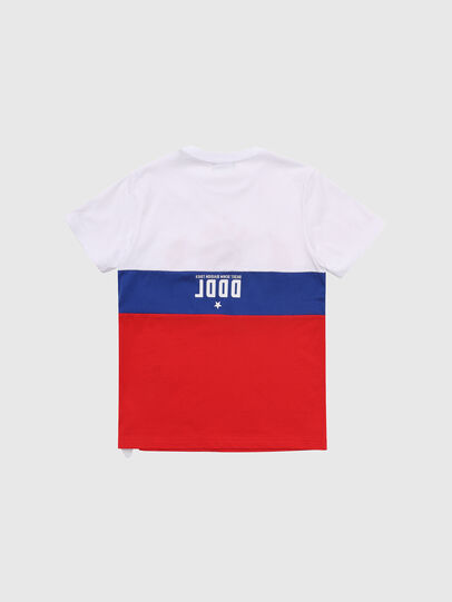 Diesel - TJUSTA1, Bianco/Rosso/Blu - T-shirts e Tops - Image 2