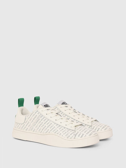 Diesel - S-CLEVER LOW LACE, Bianco/Verde - Sneakers - Image 2
