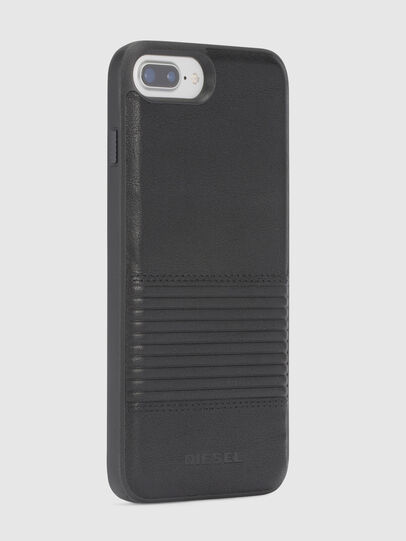 Diesel - BLACK LINED LEATHER IPHONE 8/7/6s/6 CASE, Nero - Cover - Image 5