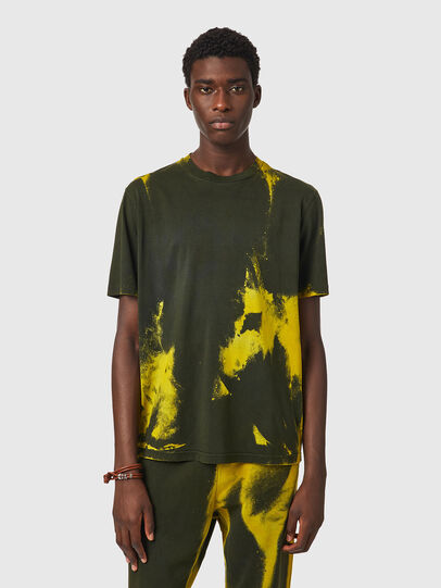 Diesel - T-JUST-B84, Verde/Giallo - T-Shirts - Image 1